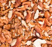 Ripe Nuts background Stock Image