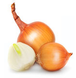 Ripe onion isolated Stock Photo