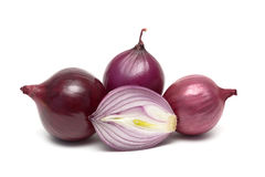 Ripe onions isolated on a white background close-up Royalty Free Stock Image