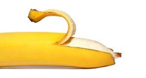 Ripe open banana Stock Photography