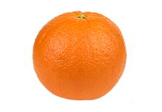 Ripe Orange. Closeup image of a ripe orange on a white background royalty free stock image