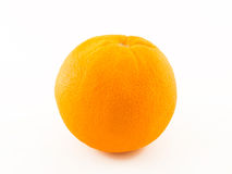Ripe orange. Isolated on white royalty free stock images