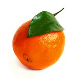 Ripe orange. Orange isolated on a white background Royalty Free Stock Image
