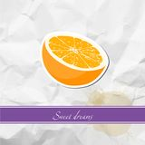 Ripe orange Stock Images