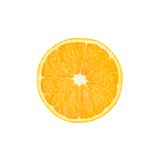Ripe orange cut in half isolated over the white Stock Photography