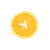 Ripe orange cut in half isolated over the white Stock Image