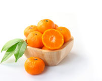 Ripe orange fruits on white background Royalty Free Stock Photos