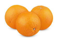 Ripe orange fruits  on white Stock Images
