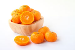 Ripe orange fruits on white Royalty Free Stock Photo