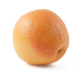 Ripe orange grapefruit. Isolated on white background Stock Photography