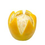 Ripe orange isolated Stock Photography