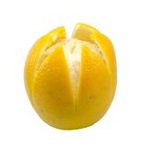 Ripe orange isolated Royalty Free Stock Images