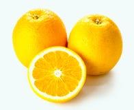 Ripe orange isolated on white background Royalty Free Stock Images