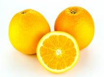 Ripe orange isolated on white background Royalty Free Stock Image