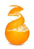 Ripe orange peeled skin Royalty Free Stock Images