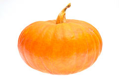Ripe orange pumpkin isolated Stock Photo