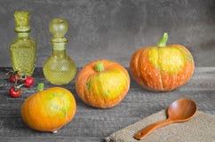 Ripe orange pumpkin Stock Image