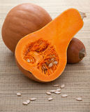 Ripe orange pumpkins with white seeds Royalty Free Stock Photography