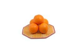 Ripe orange to vibrant good health. Organic ripe navel orange on mat Stock Photo