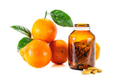 Ripe orange,vitamin c Royalty Free Stock Photo