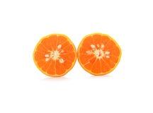 Ripe orange on white Stock Photo