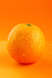 Ripe Orange With Drops Of Water Stock Photo