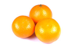 Ripe oranges. Isolated over white background royalty free stock photos
