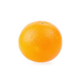 Ripe oranges isolated on white background. Orange in a cut Stock Images