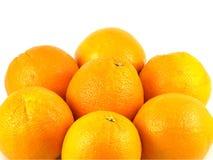 Oranges isolated on white Stock Images