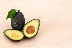 Ripe Organic Avocado with copy space Stock Image