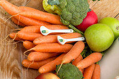 Ripe, organic fruits and vegetables Stock Photo