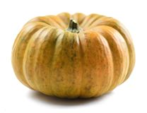 Ripe organic imperfect pumpkin isolated on white background Royalty Free Stock Photography