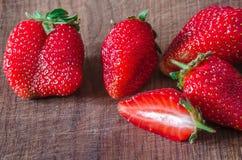 Ripe organic juicy strawberry Royalty Free Stock Image