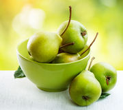 Ripe organic pears Royalty Free Stock Photos