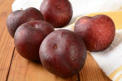 Ripe organic plums Royalty Free Stock Photo