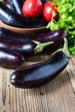 Ripe organic purple eggplant Stock Photography