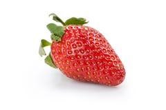 Ripe organic strawberry isolated on white royalty free stock photos