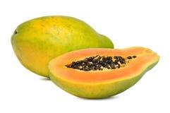 Ripe papaya. Fresh and ripe papaya isolated on white background Stock Images
