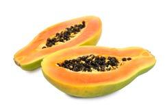 Ripe papaya. Fresh ripe papaya isolated on white background Royalty Free Stock Image