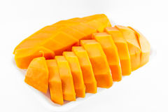 Ripe papaya fruit. On white background Stock Image