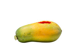 Ripe papaya isolated Royalty Free Stock Photos