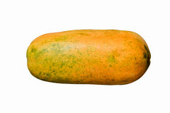 Ripe papaya isolated on white. Background Royalty Free Stock Photography