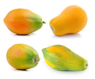 Ripe papaya isolated on white background Royalty Free Stock Image