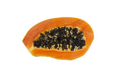 Ripe papaya isolated Royalty Free Stock Photo