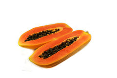 Ripe papaya slice Royalty Free Stock Photos