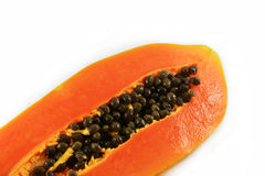 Ripe papaya slice Royalty Free Stock Image