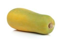 Ripe papaya on white background Royalty Free Stock Photo
