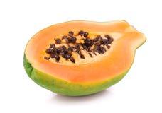 Ripe papaya on white Stock Photo