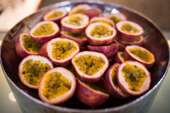 Ripe passion fruit Stock Photography