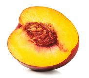 Ripe peach. Isolated on white background Royalty Free Stock Photo
